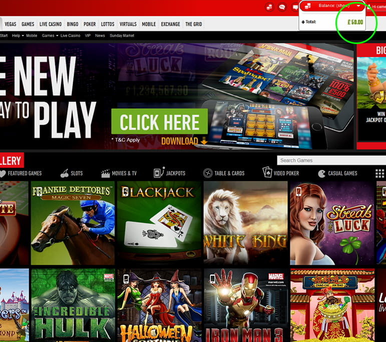 caesars online casino sizzling hot play