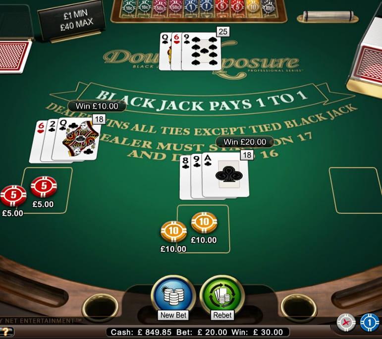 blackjack double xposure high casino