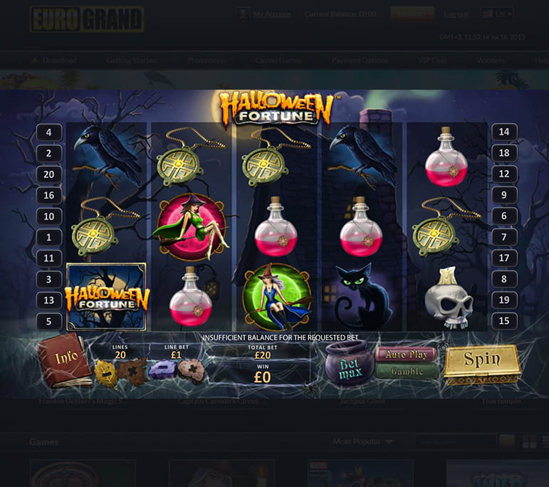 Halloween Fortune slot - witches and payouts
